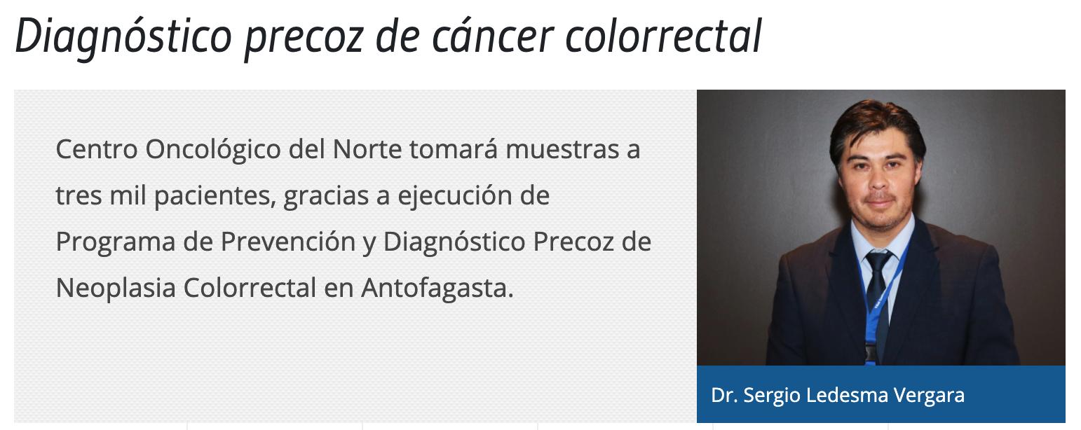 Diagnóstico precoz de cáncer colorrectal
