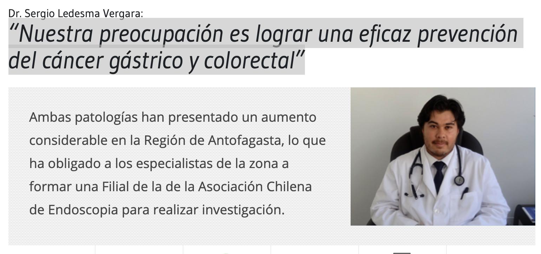 Nuestra preocupación es lograr una eficaz prevención del cáncer gástrico y colorectal