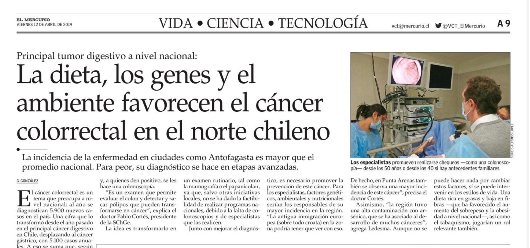 LA DIETA, LOS GENES Y EL AMBIENTE, FAVORECEN EL CÁNCER COLORRECTAL - DR. SERGIO LEDESMA